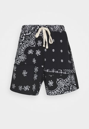 CUT AND SEW PAISLEY - Shorts - black
