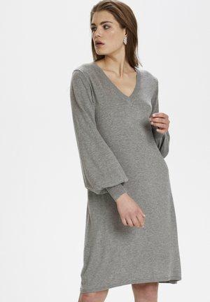 DELIAKB  - Gebreide jurk - gray violet melange