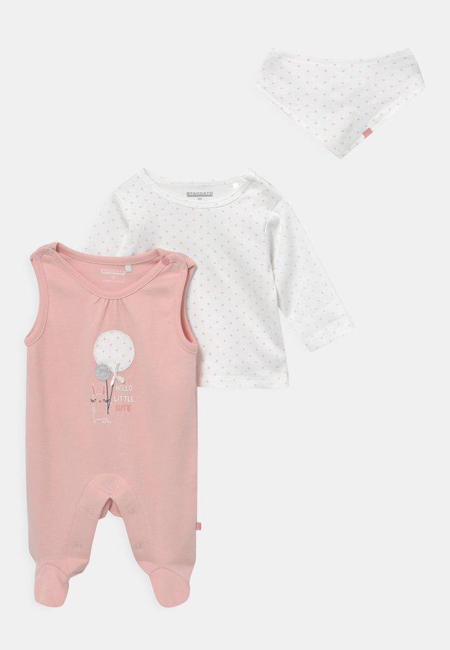SET - Top sdlouhým rukávem - light pink
