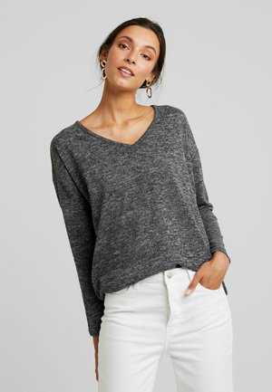 KASIANE V NECK  - Strickpullover - dark grey melange