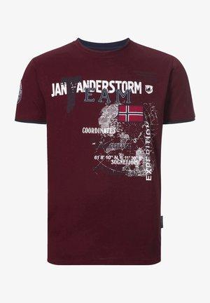SÖLVE - T-shirt print - dunkelrot