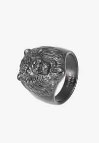 Guess - LION HEAD RING - Ring - gunmetal - 3