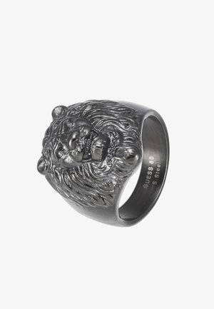 LION HEAD RING - Pierścionek - gunmetal