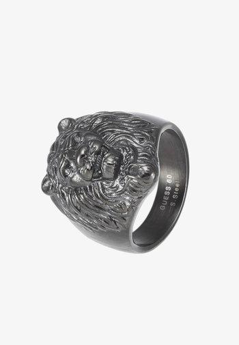 LION HEAD RING - Ring - gunmetal