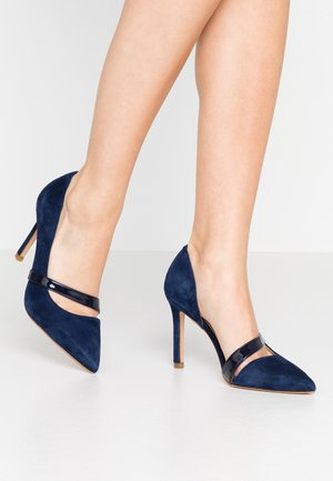High heels - dark blue