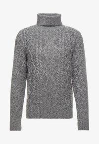 Strikpullover /Striktrøjer - mottled grey