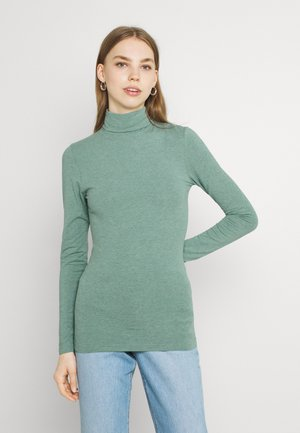 PAMILA ROLL NECK - Long sleeved top - seagrass melange
