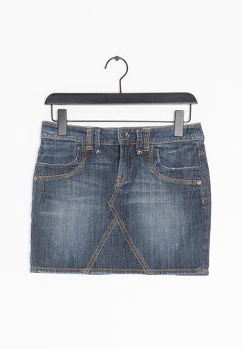 ROCK - Spódnica jeansowa - blue