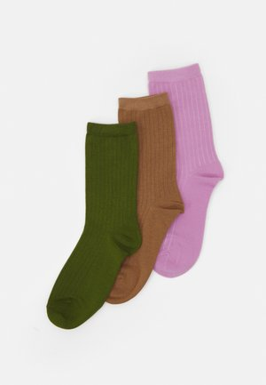 SLF3-PACK BOBBY SOCK - Socks - tigers eye/twist of lime /fair