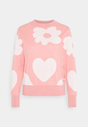 MARIA  - Stickad tröja - pink