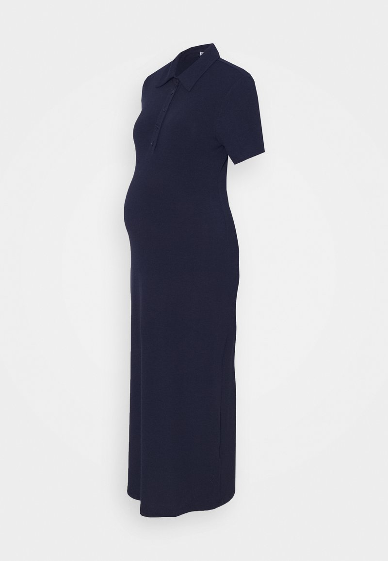 Glamorous Bloom - KNIT MIDI DRESS WITH SLIM FIT SLEEVES - Maxi dress - navy