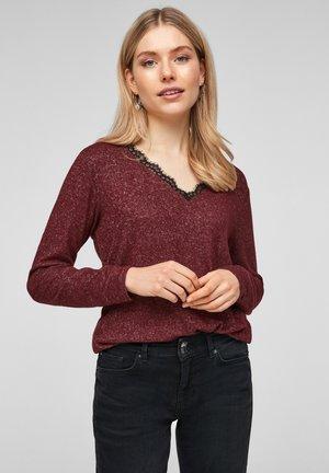 Long sleeved top - dark red melange