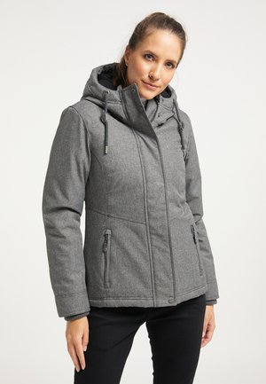 Winter jacket - dunkelgrau melange