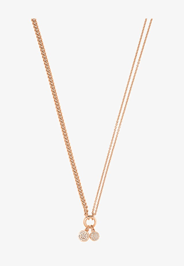 Necklace - rose gold -coloured