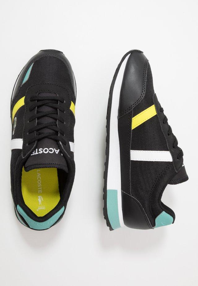 PARTNER  - Sneakers basse - black/truquoise