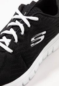 Skechers Wide Fit - GRACEFUL WIDE FIT - Sneakers laag - black/white - 2