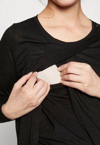 New Look Maternity - WRAP NURSING 2 PACK - Long sleeved top - black/white - 6