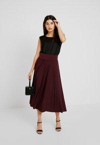Anna Field Petite - A-line skirt - winetasting - 1
