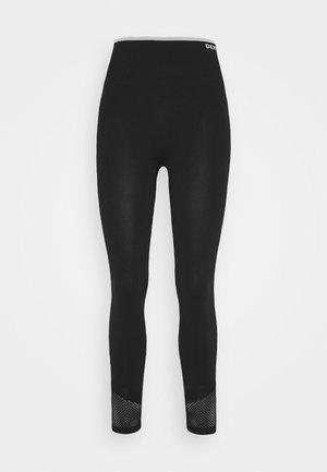 HIGH WAISTED SEAMLESS - Leggings - black