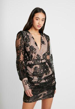 WRAP MINI DRESS - Cocktail dress / Party dress - black