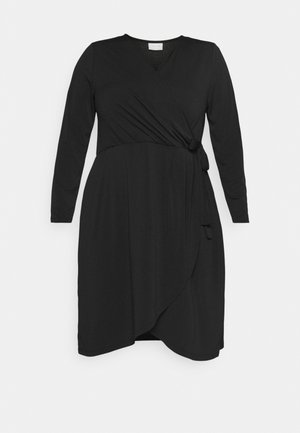 VINAYELI KNEE WRAP DRESS - Žerzejové šaty - black