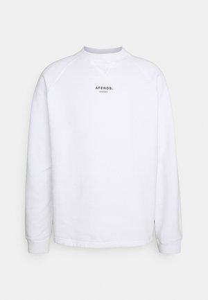 RAGLAN CREW NECK UNISEX - Sweatshirt - white