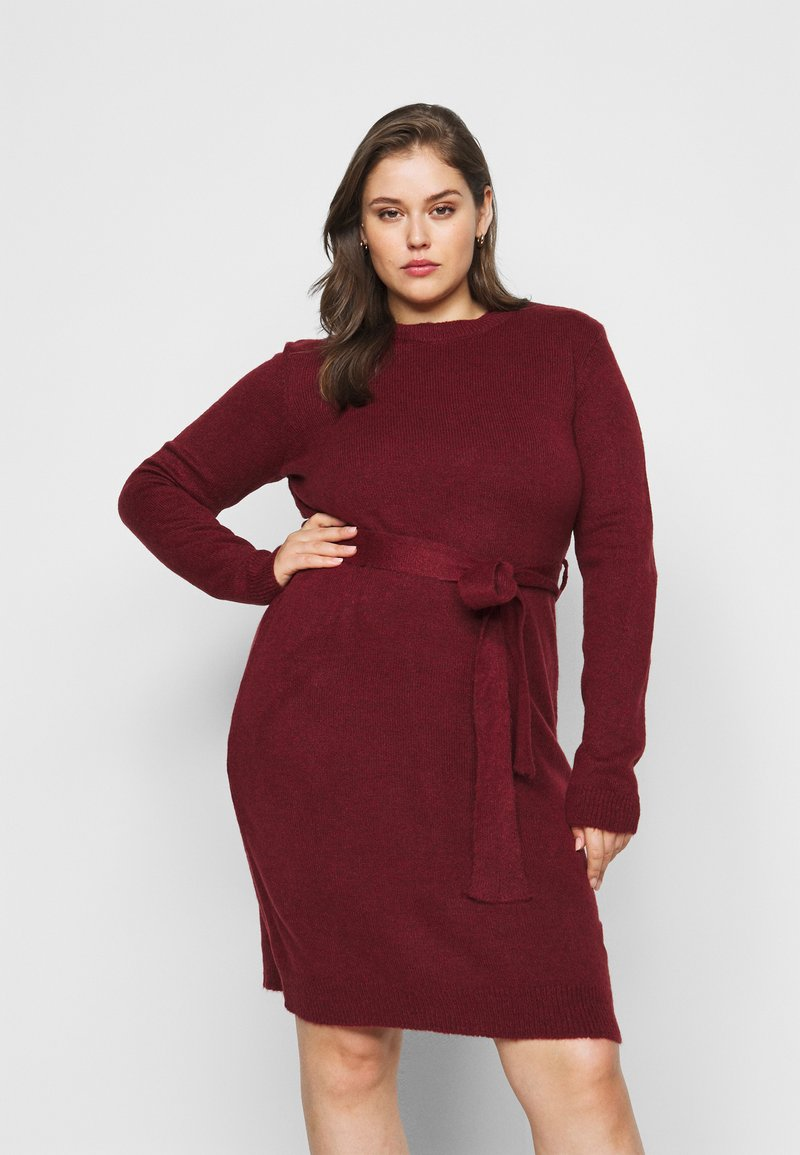 Anna Field Curvy - Jumper dress - dark red