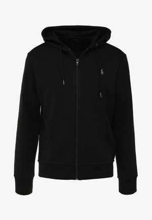 DOUBLE TECH HOOD - Huvtröja med dragkedja - black