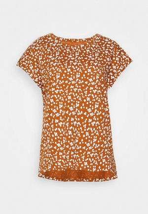 CORE  - Print T-shirt - rust brown