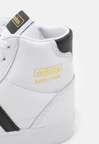 adidas Originals - BASKET PROFI UNISEX - High-top trainers - footwear white/core black/gold metallic - 5