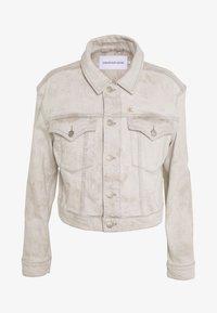 CROPPED FOUNDATION TRUCKER - Jeansjakke - bleach grey