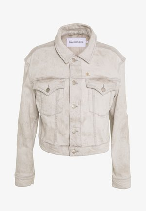 CROPPED FOUNDATION TRUCKER - Chaqueta vaquera - bleach grey