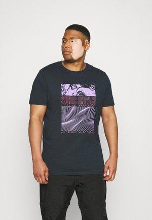 SURF PRINT TEE  - Print T-shirt - navy