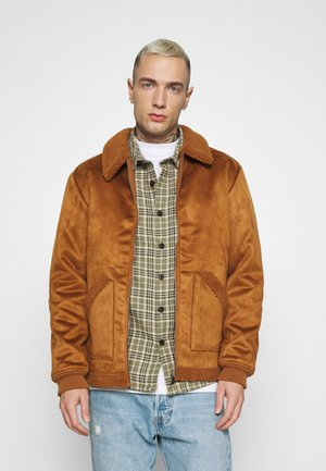 COOPER SUEDE JACKET - Giacca invernale - sand