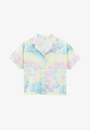 WM SPIRALING SS WOVEN - Button-down blouse - multi-coloured