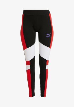Leggings - Trousers -  black/white/red/purple