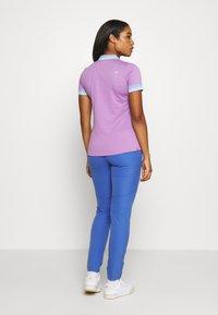 Kjus - WOMEN ELLA STRUCTURE - Polo shirt - pink divine/vista blue - 2