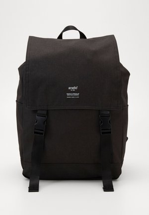 SLIM FLAP BACKPACK UNISEX - Rygsække - black