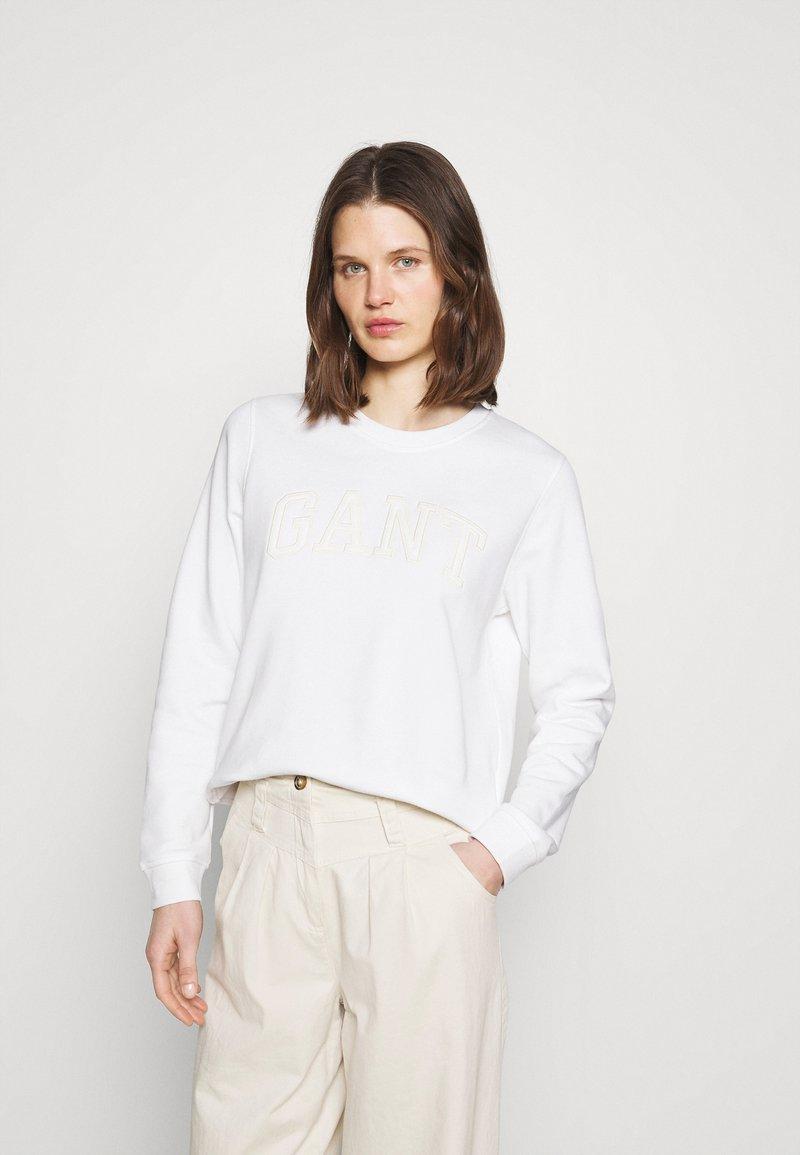 GANT - ARCH LOGO C NECK - Sweatshirt - eggshell