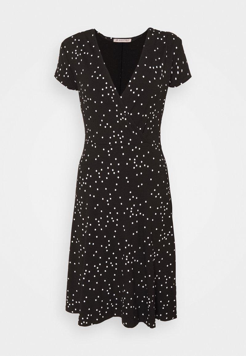 Anna Field - Jersey dress - black/white