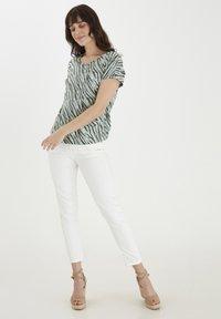 Fransa - Print T-shirt - aqua foam mix - 1