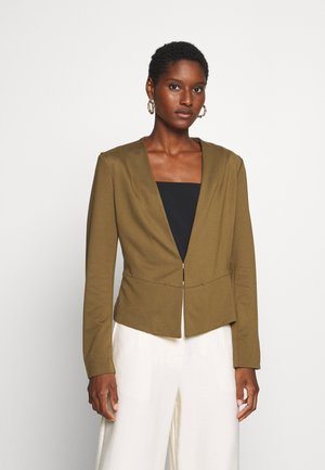 COLLARLESS - Blazere - military olive green