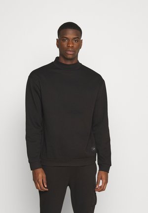 FUNNEL NECK CREW - Sweatshirt - black