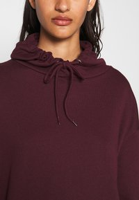 Even&Odd - BASIC - Oversized hoodie with pocket - Hoodie - bordeaux - 4