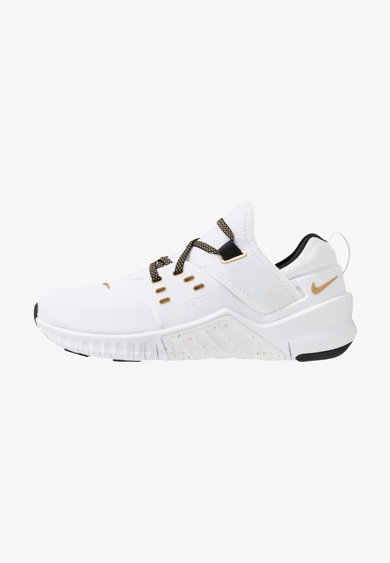 Nike Performance - FREE METCON  - Kuntoilukengät - white/metallic gold/black