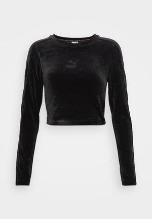 ICONIC LONGSLEEVE TEE - Long sleeved top - black