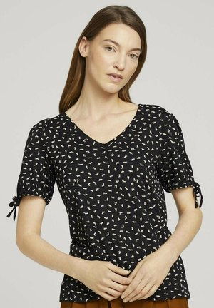 Print T-shirt - black geometrical design
