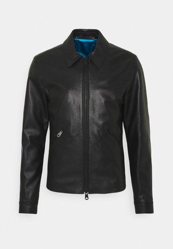 GENTS LEATHER JACKET - Leather jacket - black
