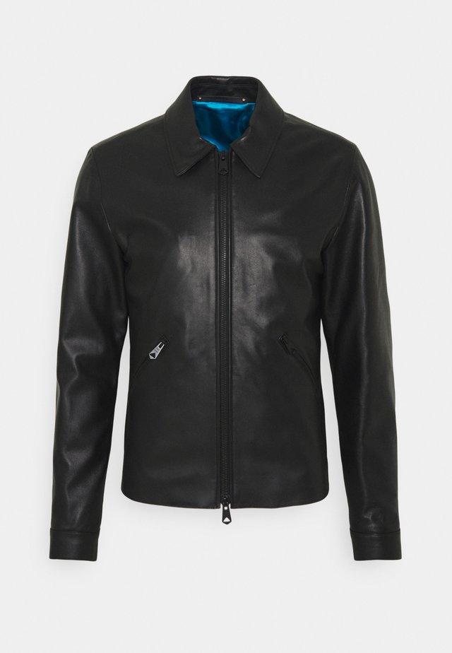 GENTS LEATHER JACKET - Veste en cuir - black