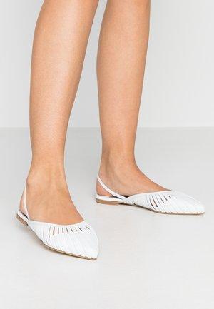 ZONE - Slingback ballet pumps - bianco